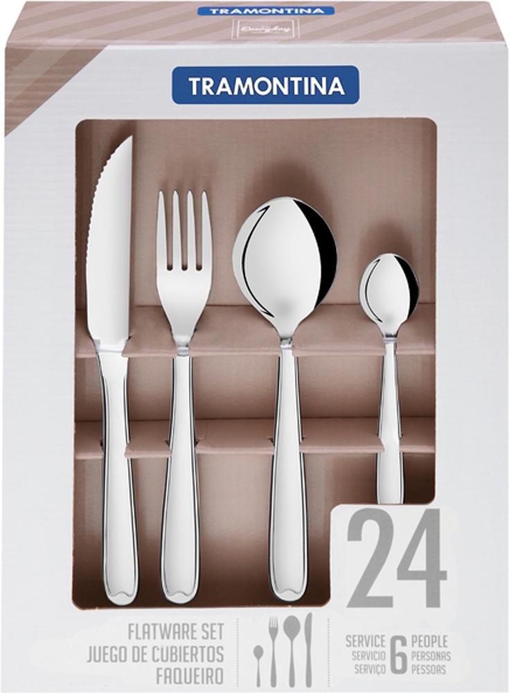Набор столовых приборов Tramontina Copacabana, 24 предмета набор из 5 ножей tramontina ultracorte