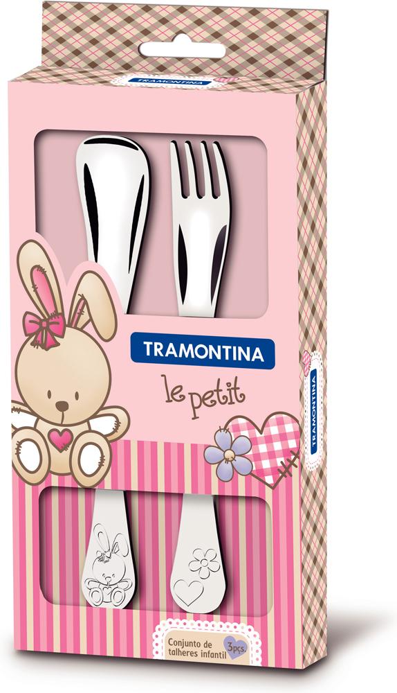 Набор детских столовых приборов Tramontina Le petit, для девочки, 2 предмета