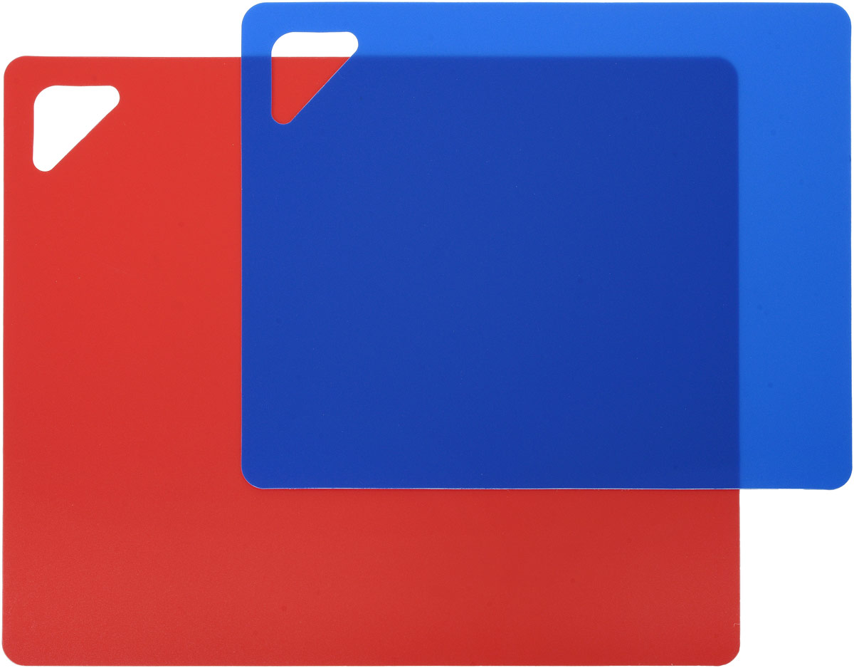 Разделочная доска Домашний Сундук, гибкая, цвет: красный, синий, 2 шт разделочная доска домашний сундук гибкая цвет красный синий 2 шт