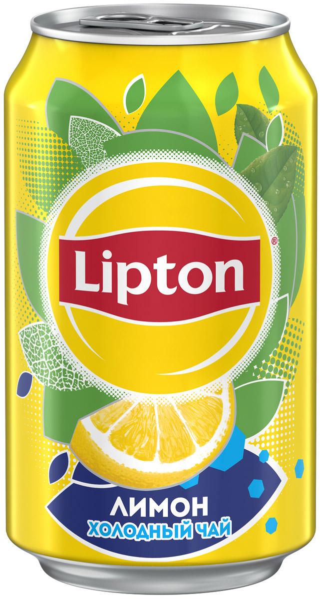 Lipton Ice Tea Лимон холодный чай, 0,33 л lipton yellow tea выбор 100 пакета