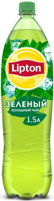 Lipton Ice Tea Зеленый холодный чай, 1,5 л lipton yellow tea выбор 100 пакета