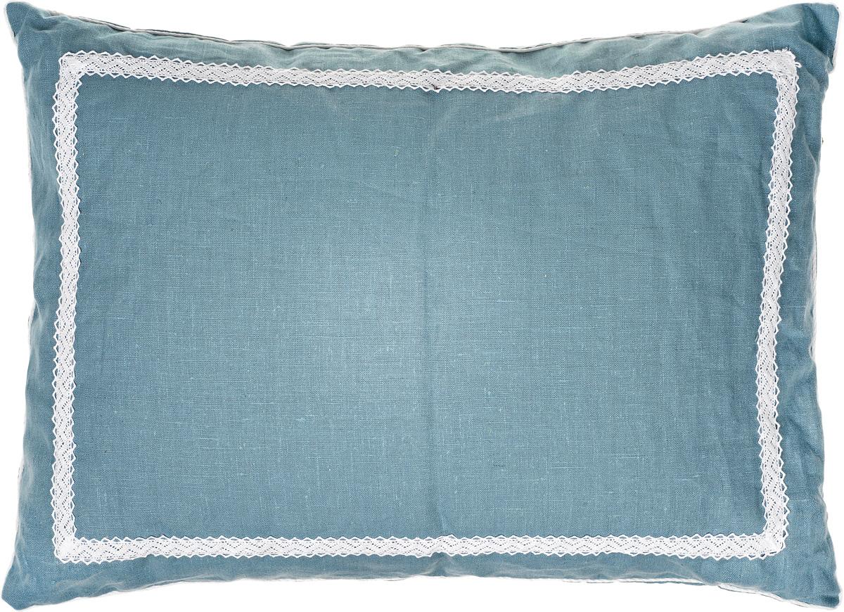 Подушка Bio-Textiles Кедровое очарование Blue, наполнитель: кедр, цвет: бирюзовый, 50 х 70 см. K0B097