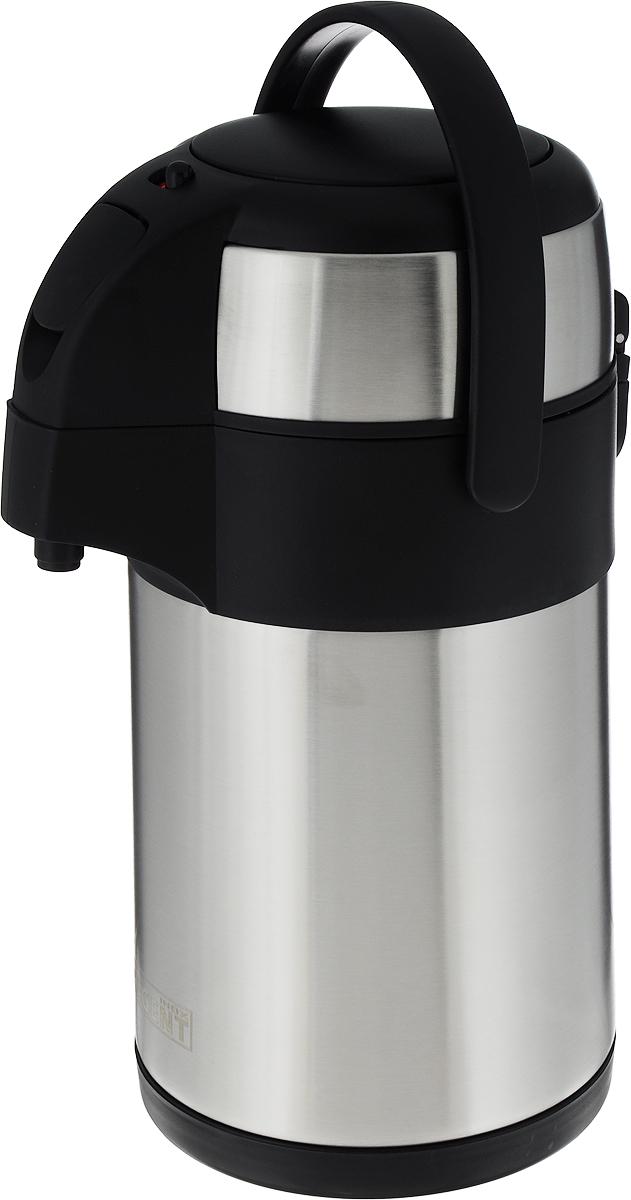 """Термос """"Regent Inox"""", с пневмонасосом, цвет: черный, 2 л. 93-TE-G-1-2000"""