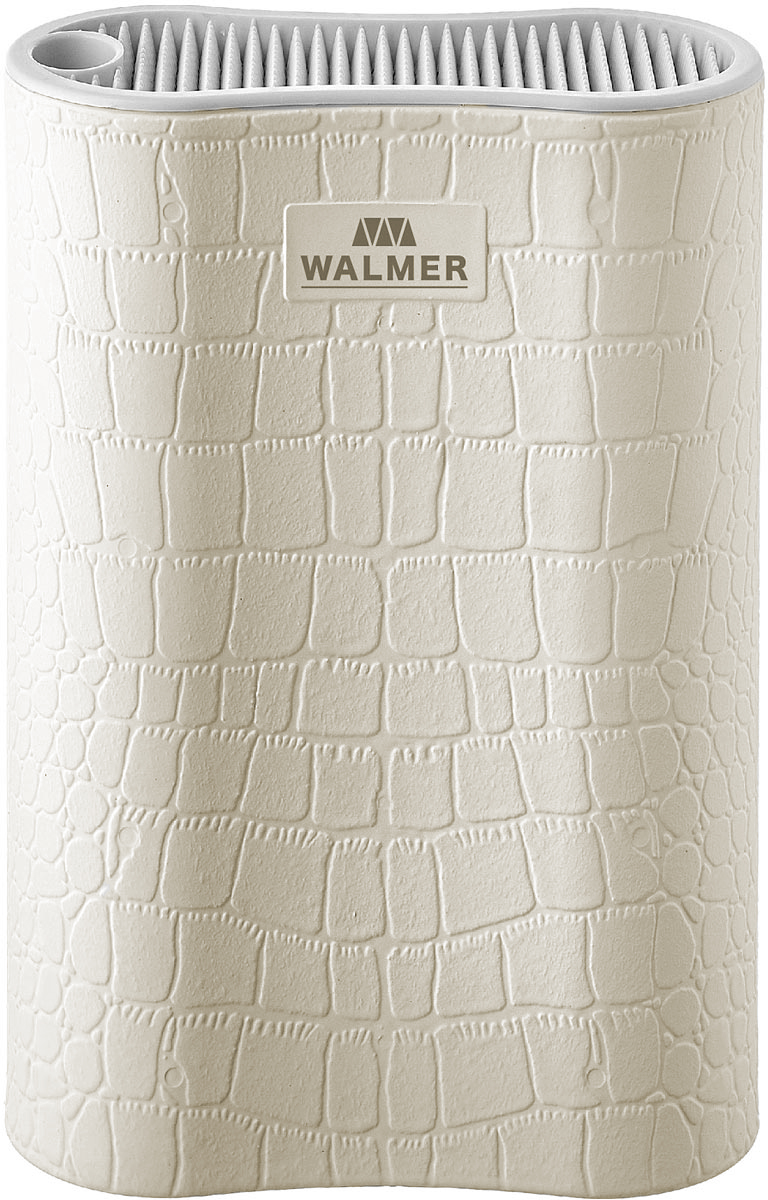 Подставка для ножей Walmer White Leather, цвет: белый, 17 x 7 x 22 см блюдо walmer lettuce 18 x 21 см