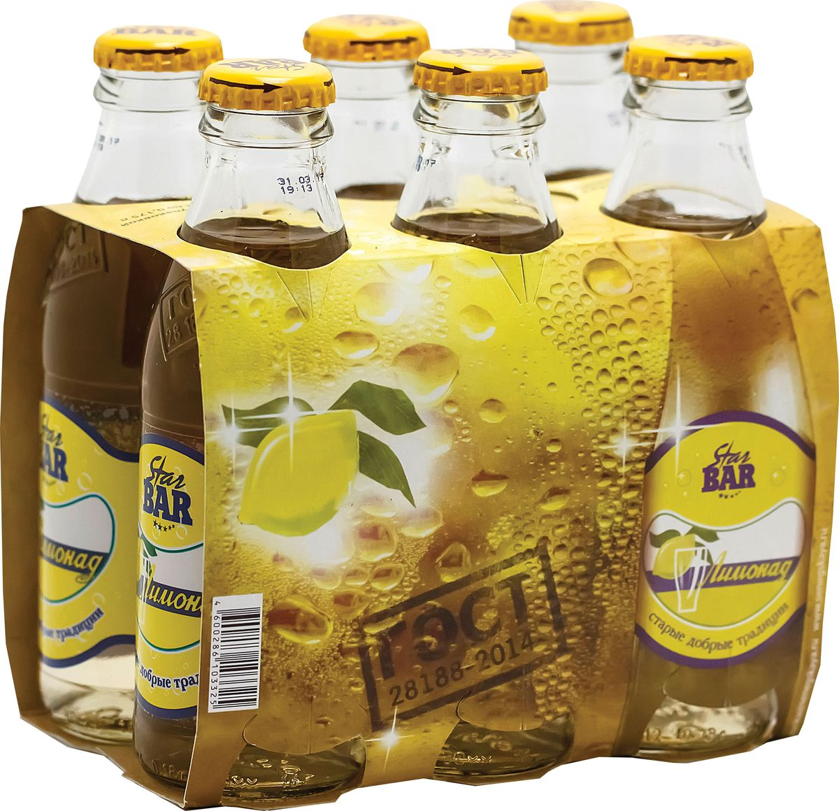 Star Bar Лимонад, 6 шт по 0,175 л