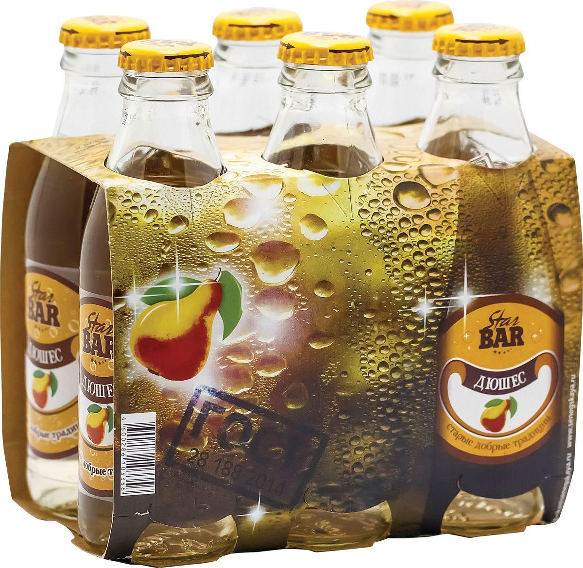 Star Bar Лимонад Дюшес, 6 шт по 0,175 л star bar лимонад экстра ситро 6 шт по 0 175 л