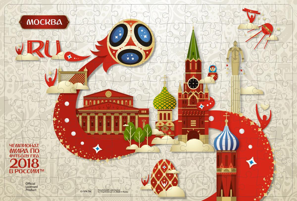 FIFA World Cup Russia 2018 Пазл Look Москва 03808 наклейка расписание матчей чемпионата мира