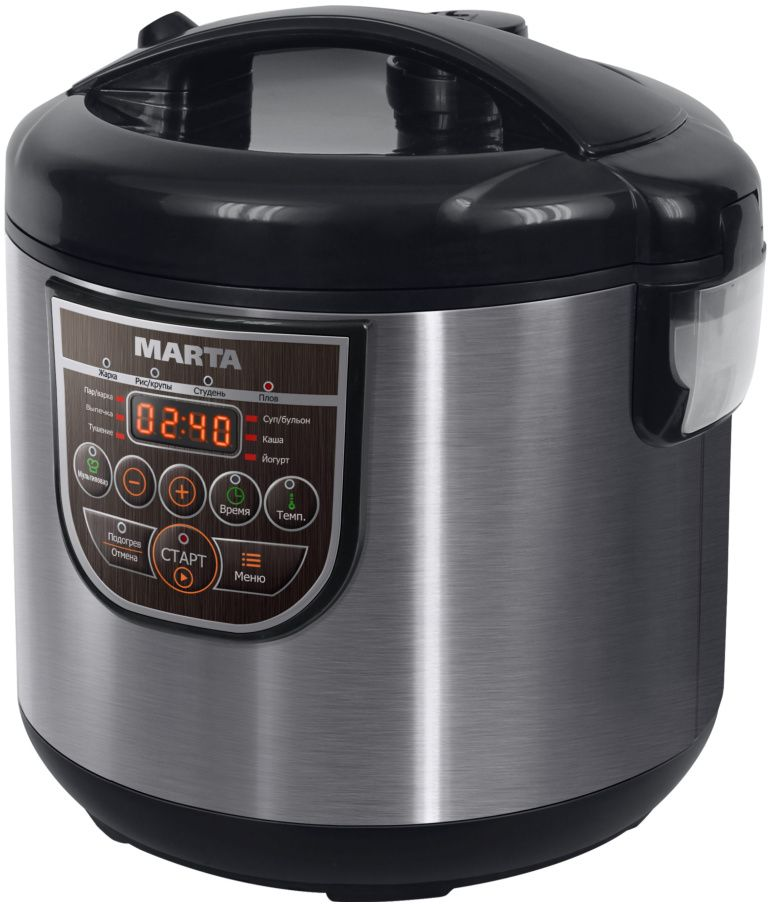 Мультиварка Marta MT-4322, Black Grey