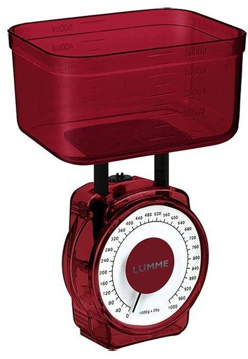 Lumme LU-1301, Red весы кухонные lumme lu 2601 red