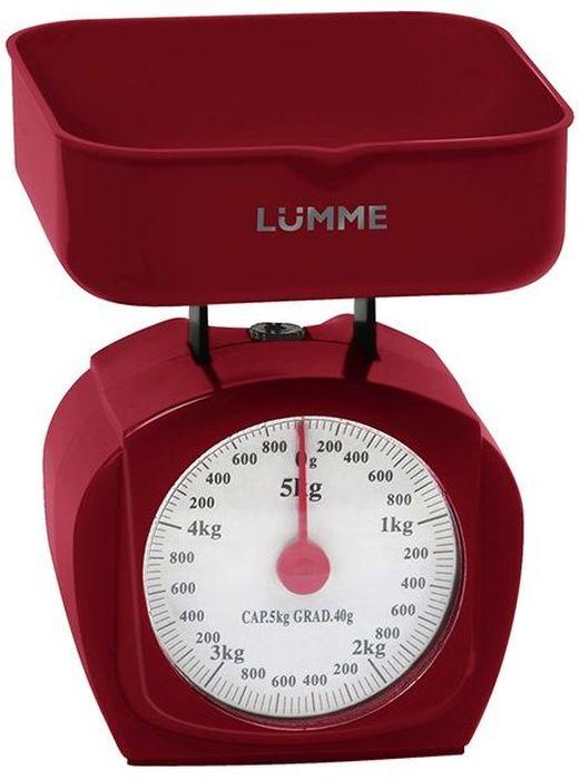 Lumme LU-1302, Red весы кухонные lumme lu 2601 red