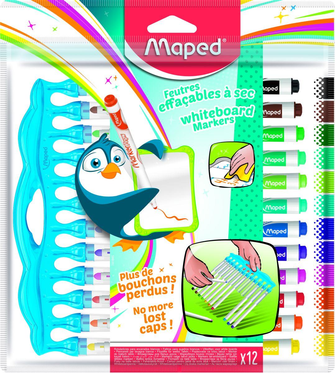 Набор маркеров для досок Maped, 12 цветов