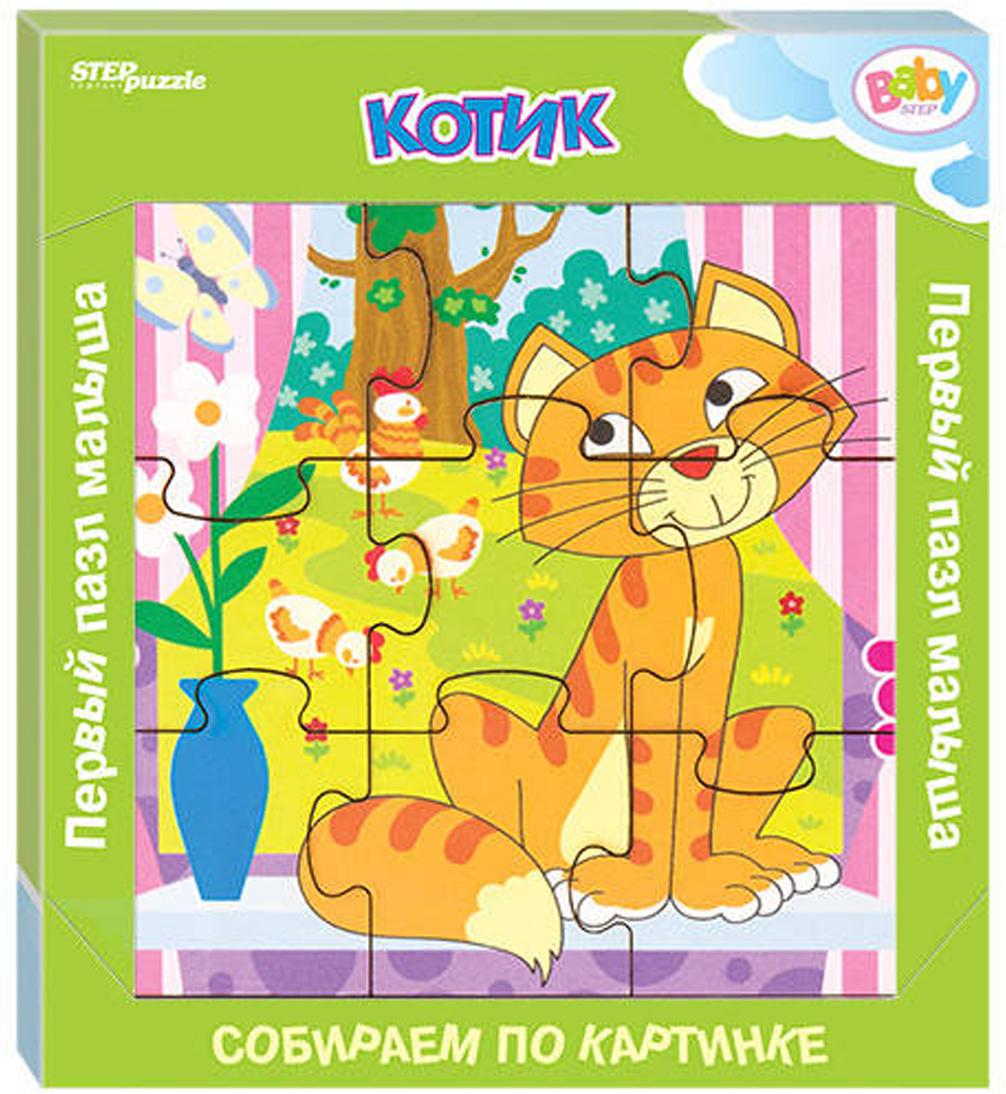 цена на Step Puzzle Обучающая игра Собираем по картинке Котик