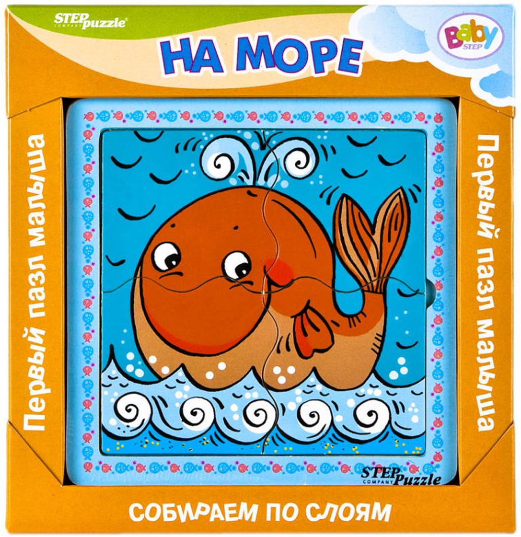 цена на Step Puzzle Обучающая игра Собираем по слоям На море