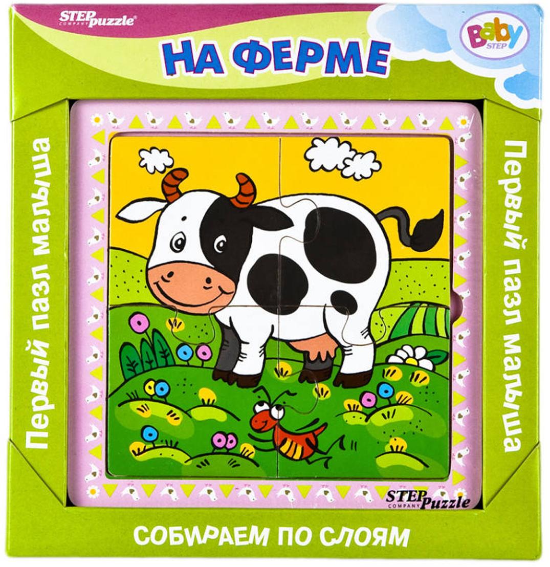 цена на Step Puzzle Обучающая игра Собираем по слоям На ферме