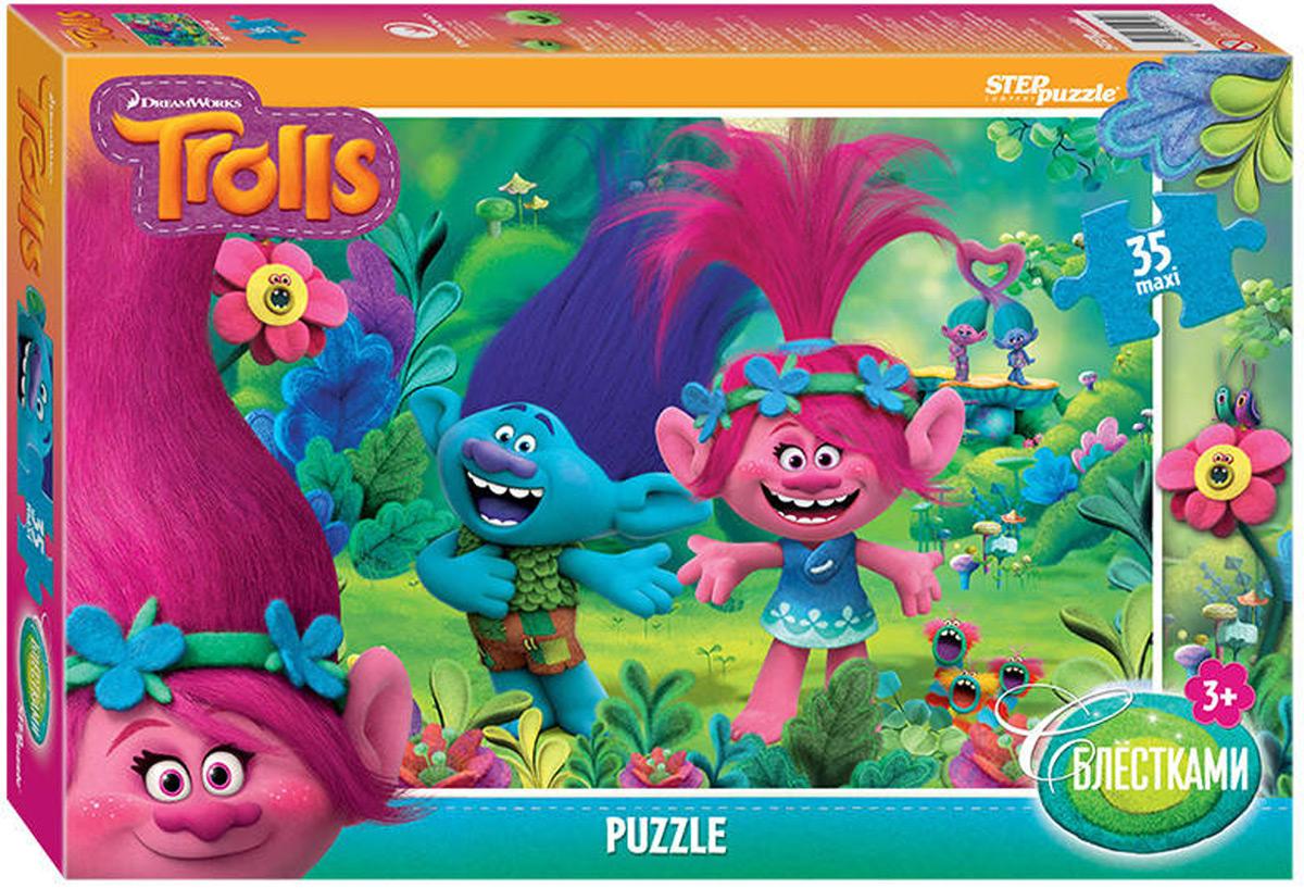 Step Puzzle Пазл Maxi DreamWorks Trolls пазл step puzzle степ пазл 160эл trolls dreamworks
