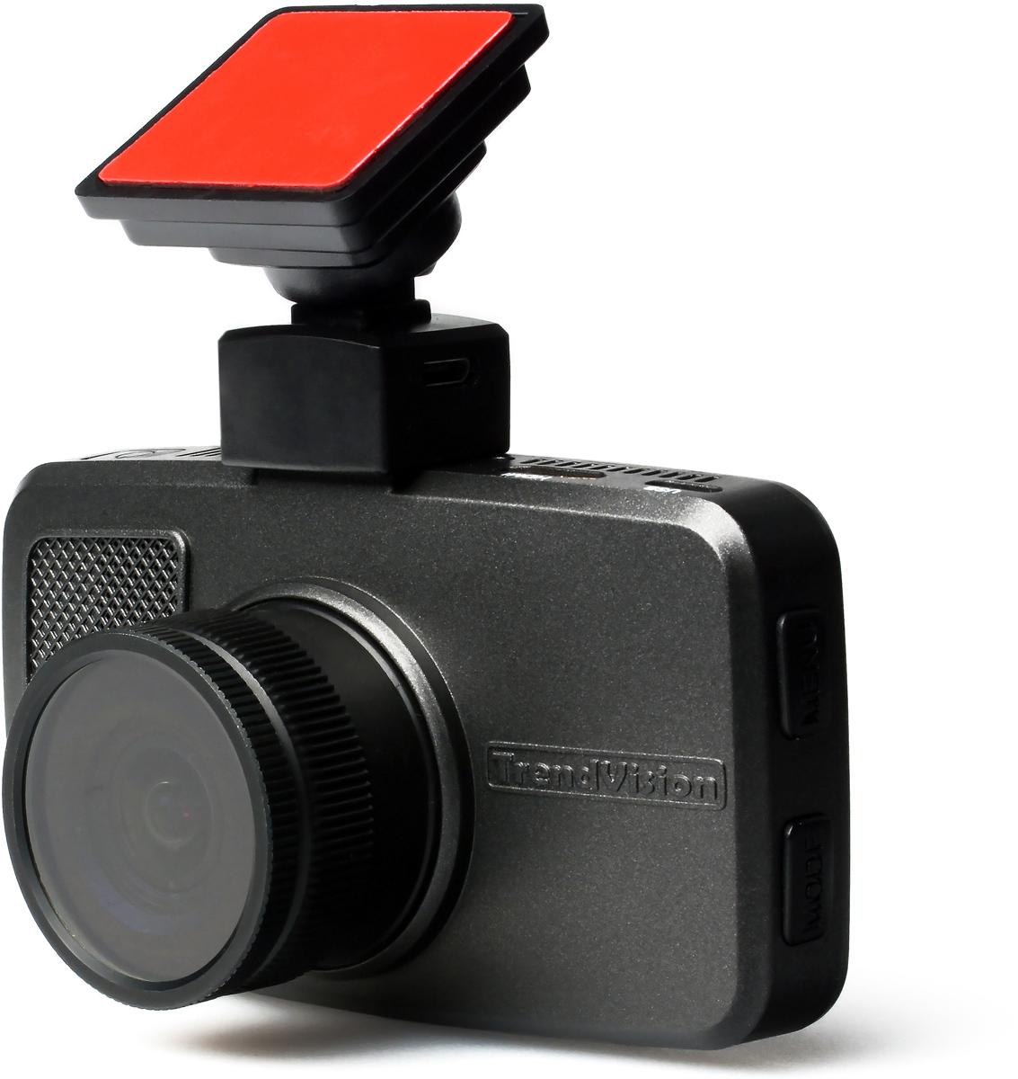 TrendVision TDR-708 GNS, Grey видеорегистратор с радар-детектором видеорегистратор trendvision mr 700 gns черный