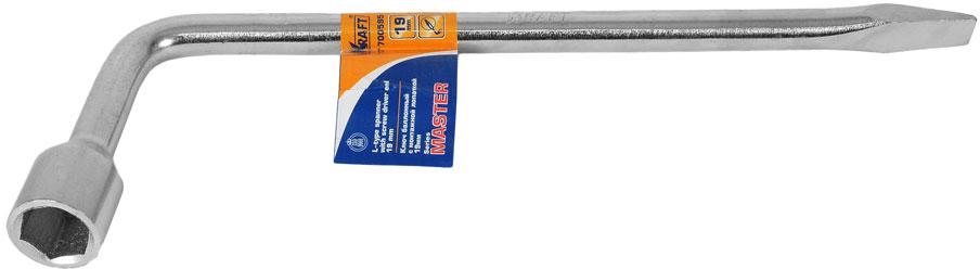 Ключ баллонный Г-образный Kraft Master, с монтажной лопаткой, 19 мм ключ г образный баллонный 22 мм