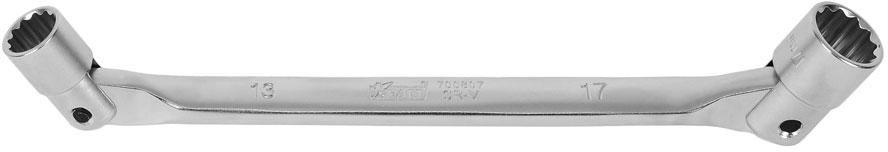 Ключ шарнирный Kraft Professional, 13 х 17мм