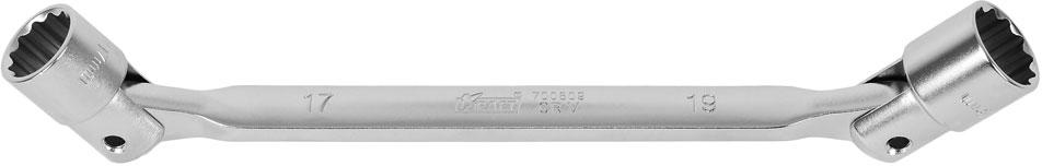 Ключ шарнирный Kraft Professional, 17 х 19 мм