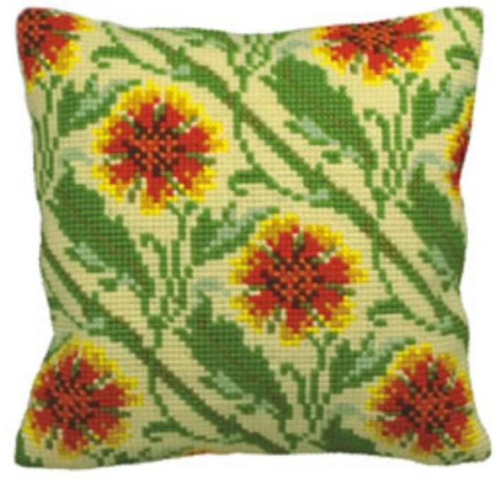 Набор для вышивания подушки Collection D'Art, 40 х 40 см. 5119 набор для вышивания подушки collection d art 40 х 40 см 5133