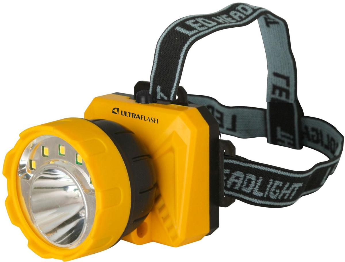 Налобный фонарь Ultraflash LED5372, желтый фонарь налобный ultraflash led5351 серебристый