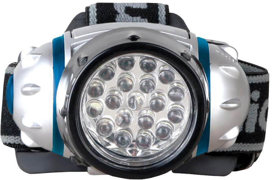 Налобный фонарь Camelion LED5313-19F4, серый металлик