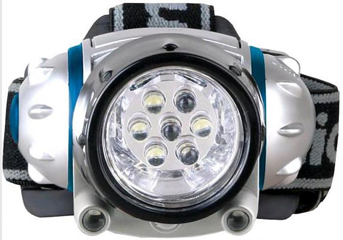 Налобный фонарь Camelion LED5310-7F3, серый металлик