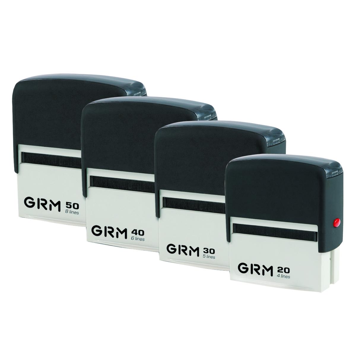 GRM Штамп самонаборный четырехстрочный 38 х 14 мм. 231666