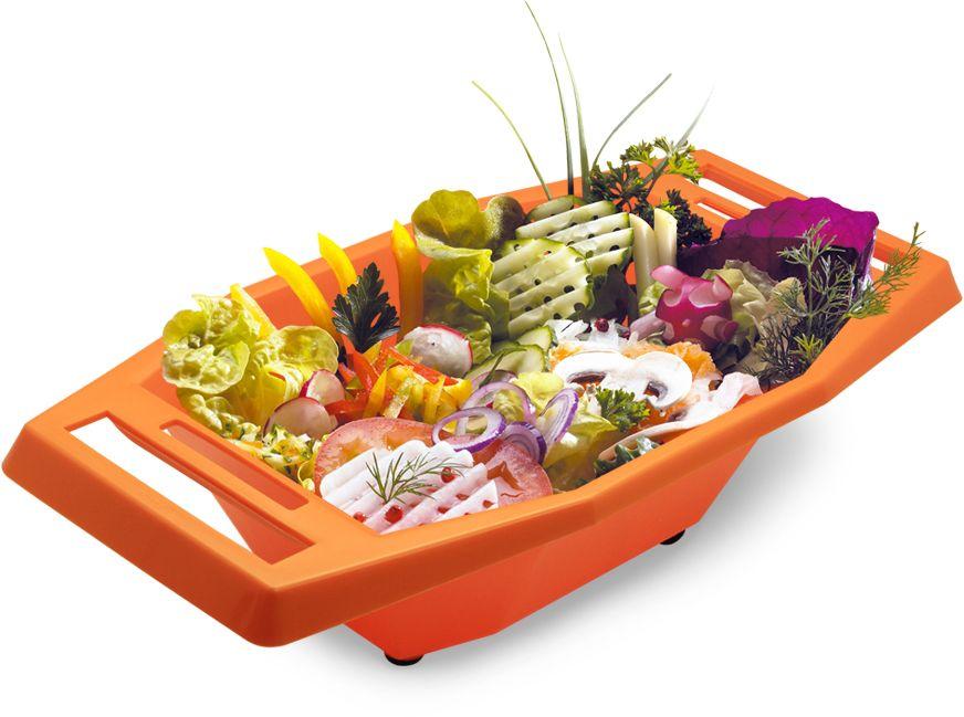 Судок для овощерезок и тёрок Borner моделей Классика и Тренд, цвет: оранжевый108Судок Borner изготовлен из пищевого пластика, устойчивого к воздействию уксуса и масла. Благодаря этому в нем можно готовить и подавать на стол любые салаты. Резиновые ножки не дадут судку скользить по столу. Ручки изделия имеют специальные прорези, в которых любая овощерезка и терка Borner крепится горизонтально и жестко. С судком Borner вам не придется собирать резаные овощи со стола и вытирать сок - все будет быстро, чисто и практично. С ним ваша работа будет намного эффективнее и гигиеничнее.