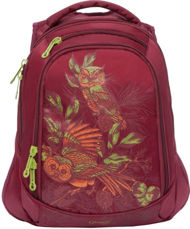 Рюкзак городской Grizzly, цвет: винный. RD-832-3/3 поворотный зажим для быстрого крепления для gopro hero 2 3 3 4 рюкзак рюкзак нью