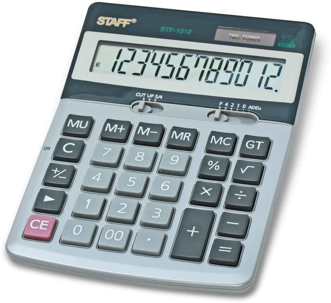 Staff Калькулятор настольный STF-1312. 250119 канцелярия staff калькулятор карманный stf 6238