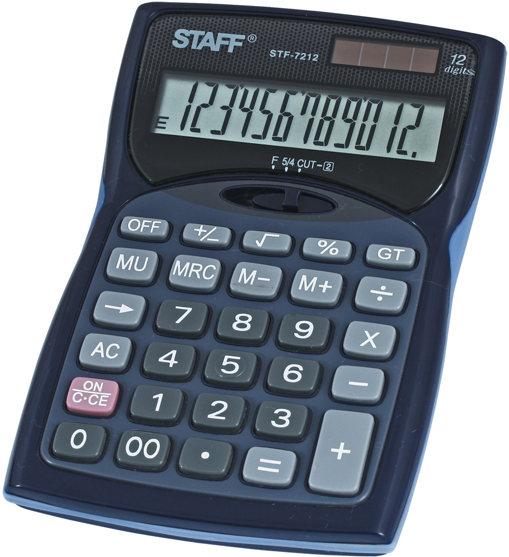 Staff Калькулятор настольный STF-7212 канцелярия staff калькулятор карманный stf 6238