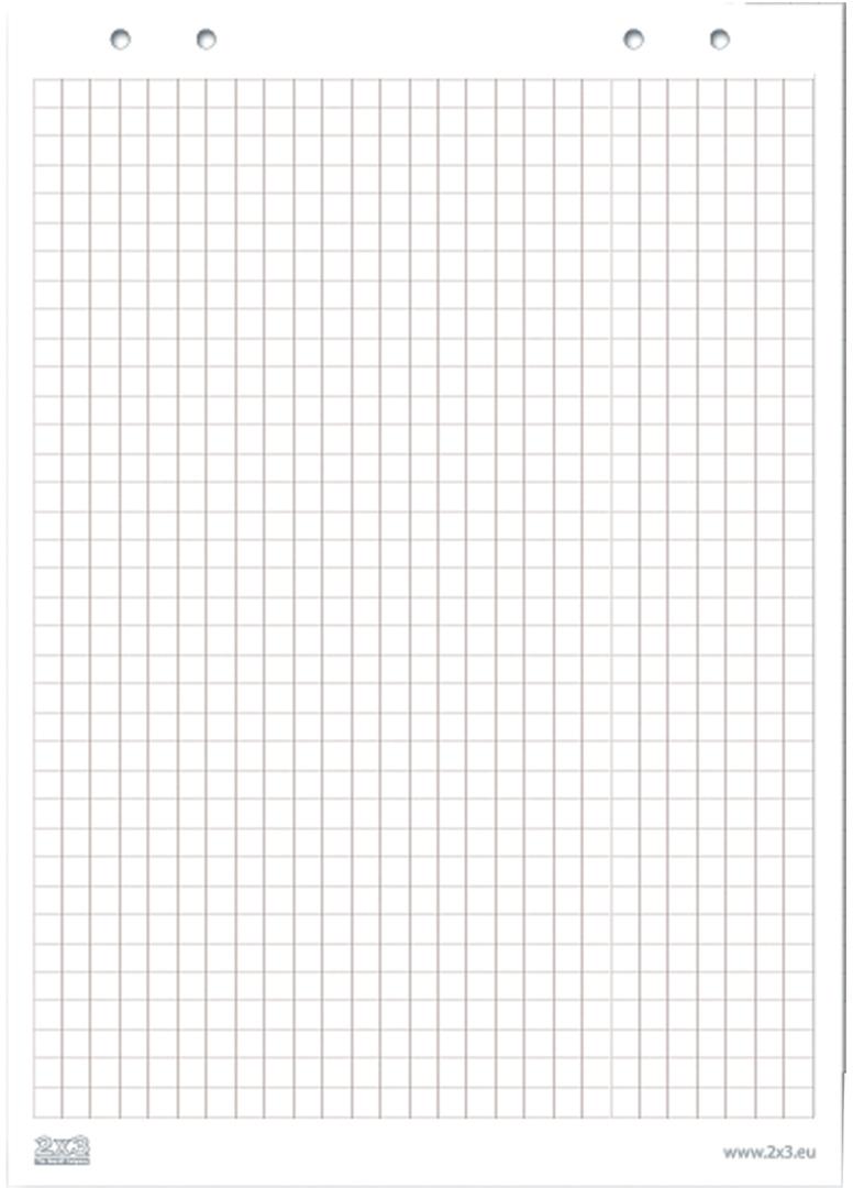 2х3 Блокнот для флипчарта 20 листов в клетку. 122616