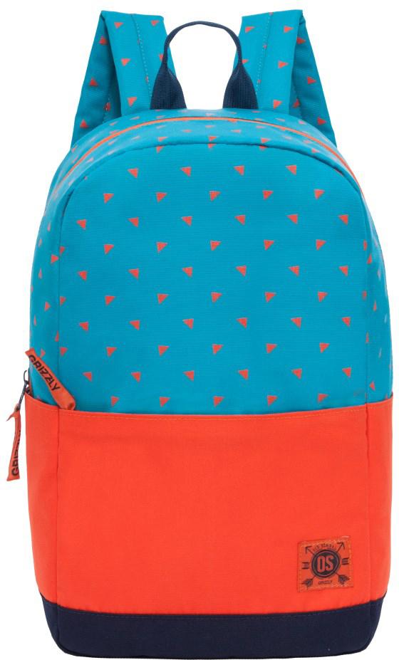 Рюкзак городской Grizzly, цвет: синий, оранжевый. RL-852-2/3 поворотный зажим для быстрого крепления для gopro hero 2 3 3 4 рюкзак рюкзак нью