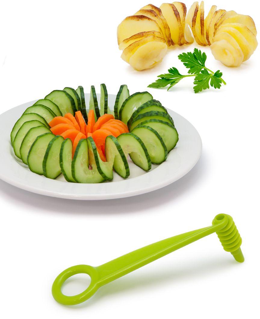 Нож-декоратор Borner для спиральной нарезки, цвет: салатовый цена