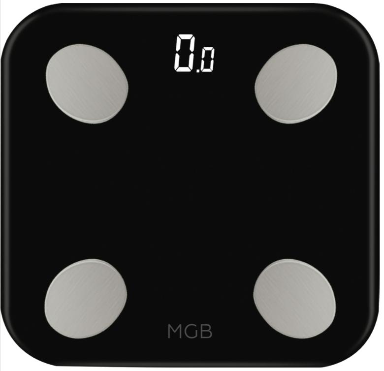 """Умные весы MGB """"Body Fat Scale Glass Edition"""", цвет: черный"""