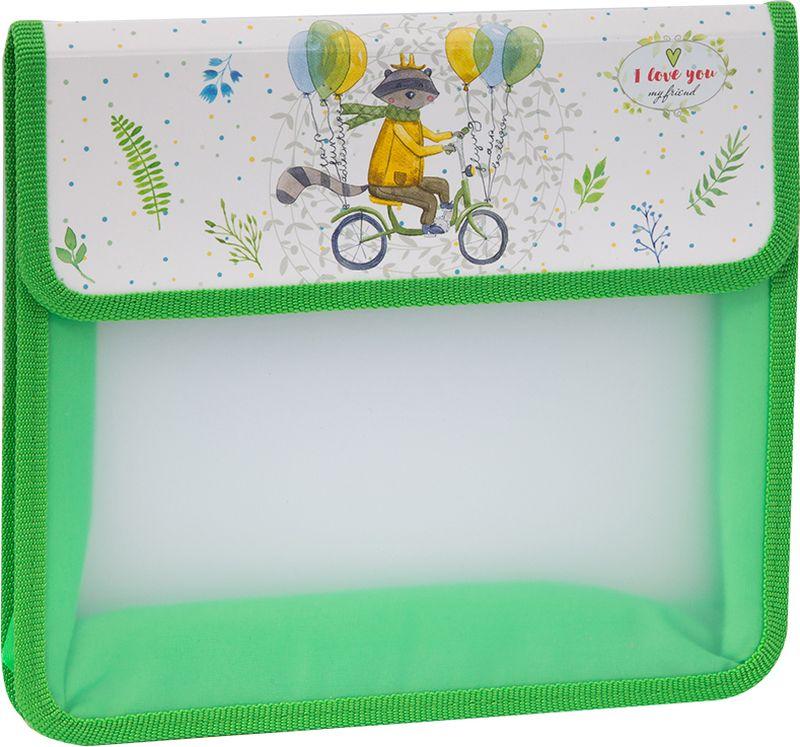 ArtSpace Папка для тетрадей Детские персонажи А5 2 отделения на липучке цвет зеленый charlie caruso understanding y