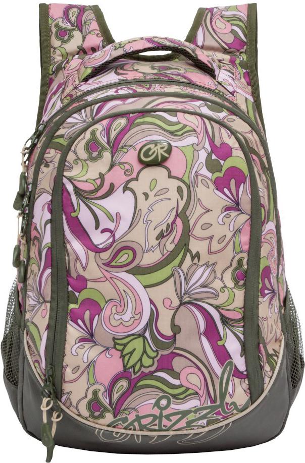 Рюкзак городской Grizzly, цвет: хаки, бежевый. RD-835-1/4 цена