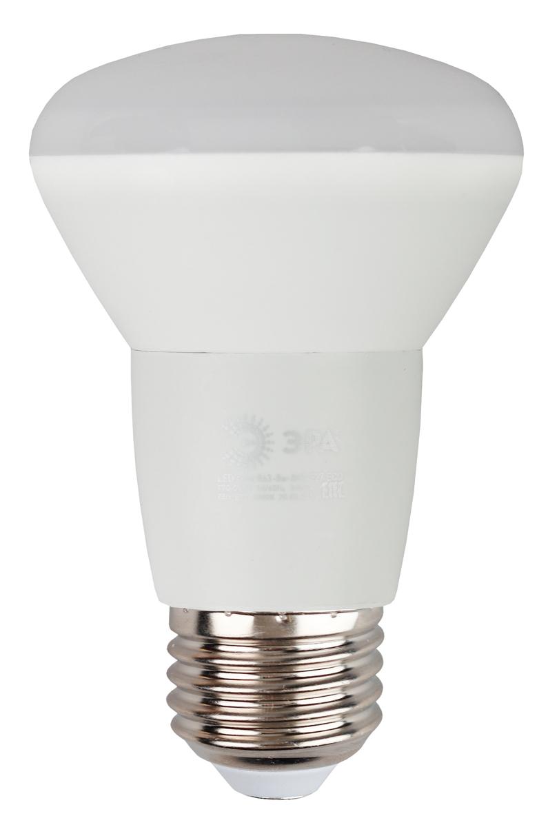 Лампа светодиодная ЭРА Eco, цоколь E27, 8W, 2700K. R63-8w-827-E27_eco лампа светодиодная эра r63 8w 840 e27