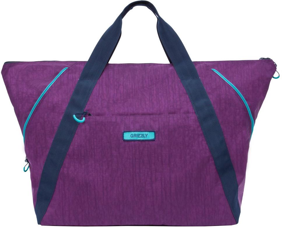 Сумка дорожная Grizzly, цвет: фиолетовый. TD-842-2/2 сумка дорожная grizzly grizzly mp002xw19eap