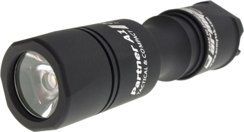 Фонарь светодиодный тактический Armytek Partner A1 v3, 600 лм, белый свет, аккумулятор