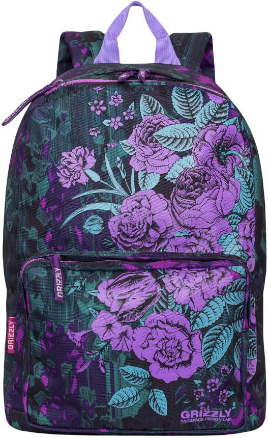 Рюкзак городской Grizzly, цвет: фиолетовый, розовый. RD-830-1/1 цена