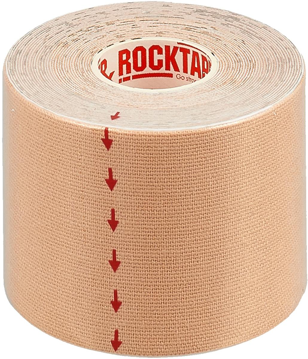 Кинезиотейп Rocktape, цвет: телесный, 5 см х 5 м кинезиотейп веерообразный rocktape precut edema strips цвет черный 20 шт