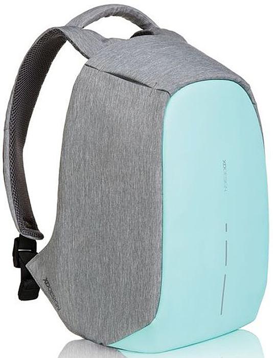Рюкзак для ноутбука XD design Bobby Compact, до 14, цвет: серый, бирюзовый, 11 л рюкзак xd design 15 0 inch bobby black p705 454 p705 545