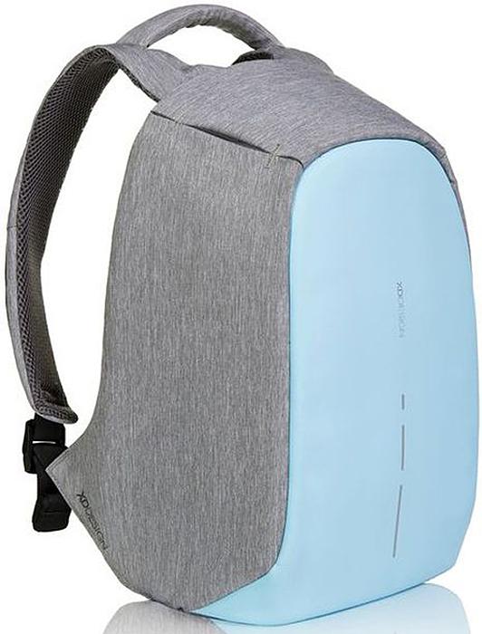 Рюкзак для ноутбука XD design Bobby Compact, до 14, цвет: серый, голубой, 11 л рюкзак для ноутбука xd design bobby до 15 6 цвет черный с серой подкладкой 13 л