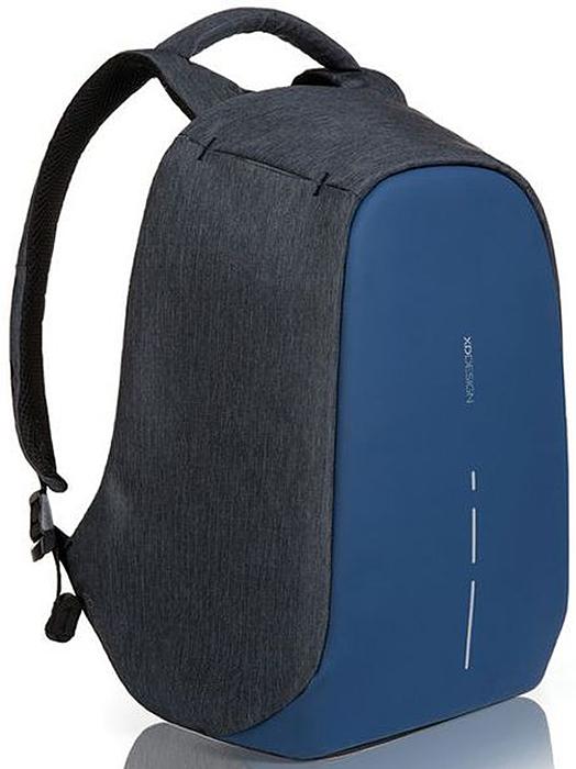 Рюкзак для ноутбука XD design Bobby Compact, до 14, цвет: темно-серый, темно-синий, 11 л рюкзак для ноутбука xd design bobby до 15 6 цвет черный с серой подкладкой 13 л