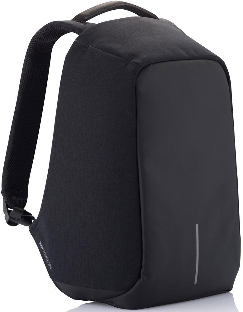 Рюкзак для ноутбука XD Design Bobby, до 15,6, цвет: черный с серой подкладкой, 13 л рюкзак для ноутбука xd design bobby compact до 14 цвет темно серый темно синий 11 л