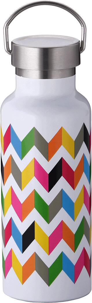Бутылка-термос French Bull Ziggy, цвет: белый, мультиколор, 500 мл. VF-50SSU