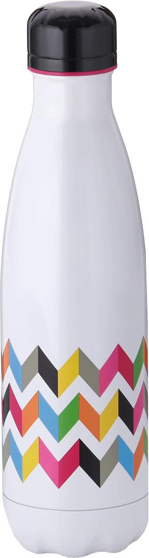 Бутылка-термос French Bull Ziggy, цвет: белый, мультиколор, 500 мл. VF-50SZI