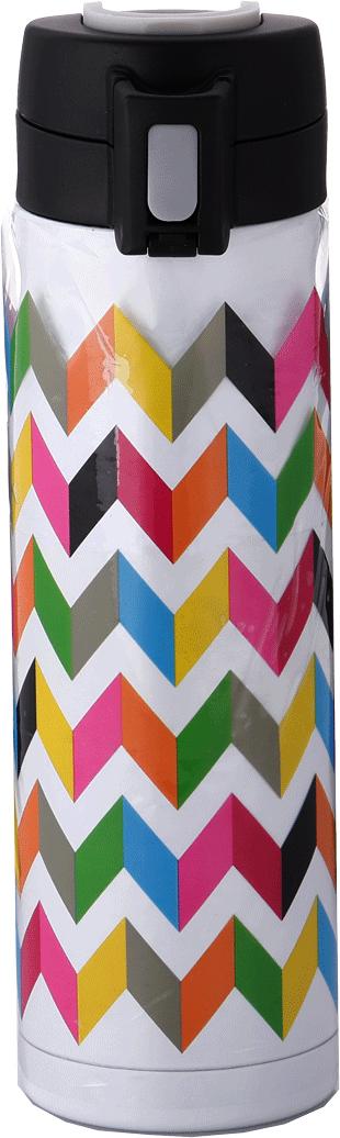 Стакан-непроливайка French Bull Ziggy, цвет: белый, мультиколор, 500 мл